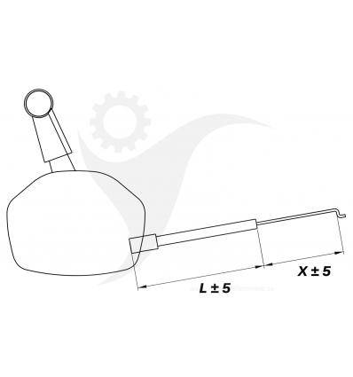 STIGA Gasreglage Turbo 50 S Rental H, 181007126/0 - 1
