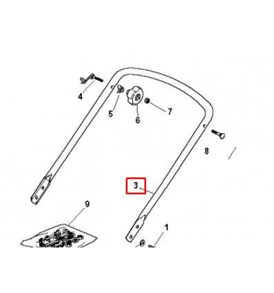 STIGA Styre underdel Combi 46 m.fl 381006570/0 - 1