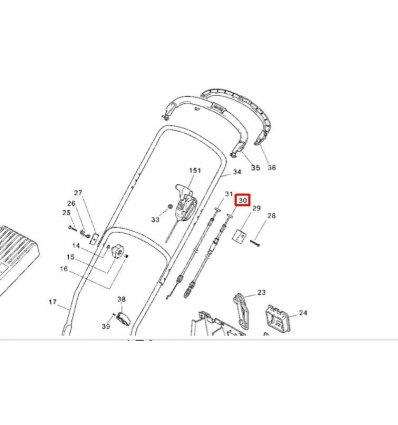 STIGA Kopplingsvajer Turbo 43S Combi,  381000696/0 - 1
