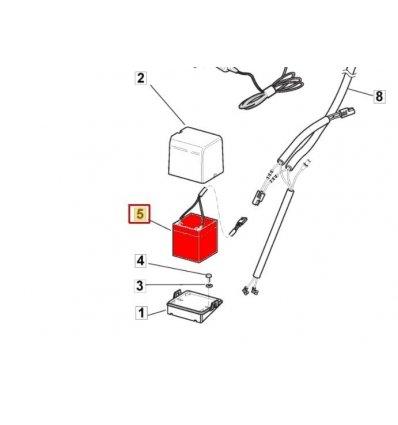 Fräscha STIGA Batteri Collector 53SE BW Combi , Excel 50 SEQ 118120052/0 RF-32