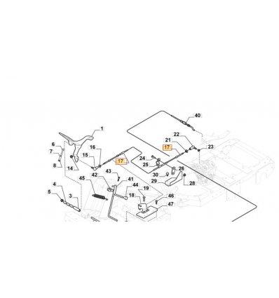 STIGA Växelkabel Park 740 IOX, 540 IX, 340IX 187000210/0 - 1