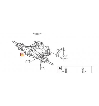 STIGA Transaxel MST205 1134-4847-01 - 1